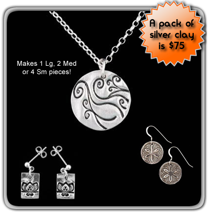 silver clay jewelry